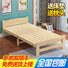 Wooden Folding Bed Usd 89 38 Solid Wood Folding Bed A Simple Lunch Bed Solid