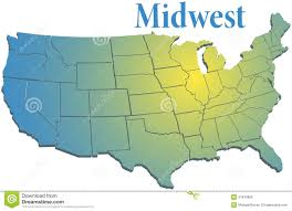 Blank Map Of Midwest States by Vintage Theater In The Midwestern United States Stock Images