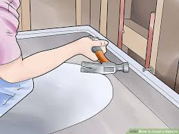 How To Change Drain In Bathtub How To Install A Bathtub With Pictures Wikihow