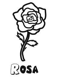 imagenes para colorear rosas infantil de una rosa flores para imprimir y pintar