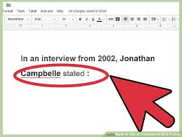 how to cite a table in mla how to cite an interview in mla format with sle citations