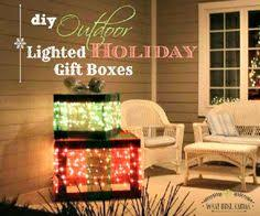 lighted christmas present boxes a husband and create a frame with 1x4 s using mesh ribbon