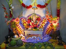 amazing ganesha decoration ideas for ganesh chaturthi festival 11 ganapati in lotus