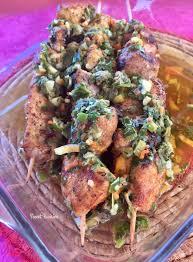 recette de cuisine martiniquaise title les brochettes tendres de porc sauce aux herbes