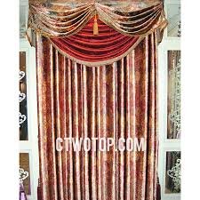 Brown Floral Curtains Retro Victorian Designer Living Room Brown And Red Floral Curtains
