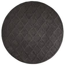 Grey Round Rug Moorish Tile Charcoal Round Rug Pier 1 Imports