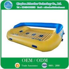 water paly equipment pvc tarpaulin inflatable floating water sofa