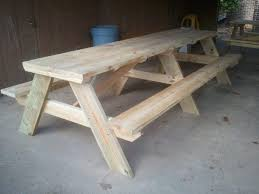 How To Build A Round Picnic Table And Benches by 50 Free Diy Picnic Table Plans For Kids And Adults