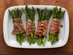 bacon wrapped asparagus bundles recipe rachael food network