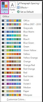 colour themes for excel change a theme and make it the default in word or excel office support
