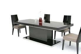 black lacquer dining room chairs table modern noble lacquer dining table black gloss and 6 chairs