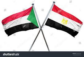 Flag Egypt Sudan Flag Egypt Flag 3d Rendering Stock Illustration 431842735