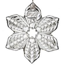 waterford mini snowflake ornament 2017 silver