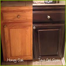 how to restain kitchen cabinets staining kitchen cabinets darker before and after amazing before and