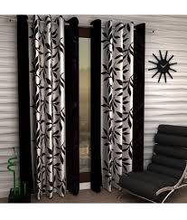 home sizzler set of 2 black door curtains buy home sizzler set