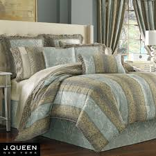 Blue Striped Comforter Set Hemmingway Striped Comforter Bedding By J Queen New York