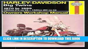 best seller harley davidson big twins 1970 to 1999 haynes owners