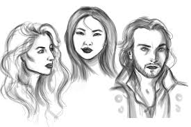 sketching faces by wipaige on deviantart