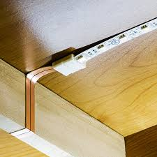 led cabinet strip lights flat power wire for led light strips connected under cabinet nfls