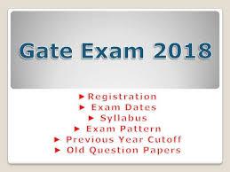 pattern of gate exam gate exam 2018 registration date syllabus paper pattern