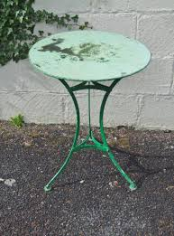 Vintage Patio Furniture Metal - g285 lovely vintage french round pedestal garden patio cafe