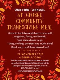 community thanksgiving supper st george community development
