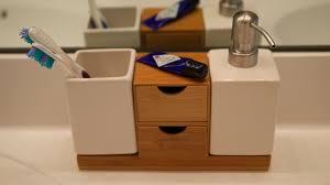 Bamboo Vanity Bathroom Vanity Organization In Bamboo Theresa U0027s Reviews