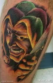 pin evil jester designs on evil joker tattoos