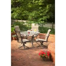 Swivel Patio Dining Chairs Grand Bank 5 Piece Patio Dining Set D4067 5pc At The Home Depot