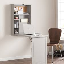 Symple Stuff Fold Out Convertible Wall Mount Floating Desk Reviews