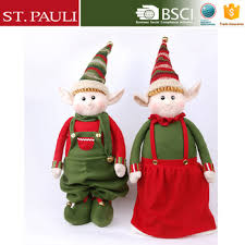 Outdoor Christmas Decorations Elves by 52 Inch Extendable Red Green Large Outdoor Christmas Decorations
