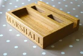 personalised wooden desk tidies make me something special