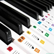 piano key notes best reusable large color piano key note keyboard stickers for