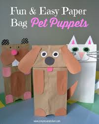 easy paper bag puppets puppet bag and craft