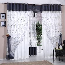 Blue Bedroom Curtains Ideas Best Blue And White Polyester Embroidered Floral Pattern Bedroom