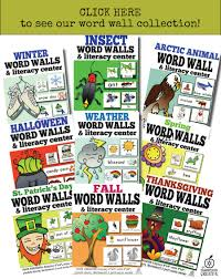 thanksgiving themed words vocabulary cards u0026 word wall ideas
