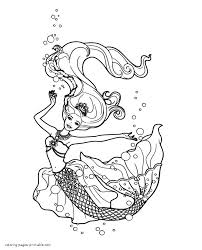 coloring pages to print for free barbie the pearl princess