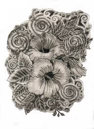 hibiscus flower drawing by chocogirl10 on deviantart