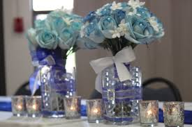 fancy blue white silver centerpieces 41 for your minimalist design