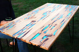 how to make a wooden table top how to make a stunning wooden table with glow in the dark resin