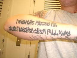 schism lyric tattoo