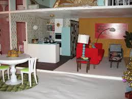 Barbie Dining Room Emma U0027s Retro 60 U0027s Barbie House How Dreary To Be Somebody