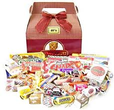 Candy Gift Basket Amazon Com Candy Crate 1940 U0027s Retro Candy Gift Box Gourmet