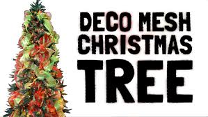 decorating a christmas tree with deco mesh youtube