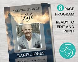 sle of funeral program funeral program template 8 page program obituary template