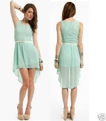 nwt mint green lace and chiffon high low short sleeve midi dress