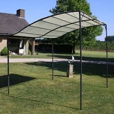 steel framed garden wall mounted sturdy gazebo with cream white