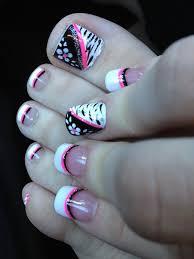 20 most beautiful zebra print nail art designs for toe