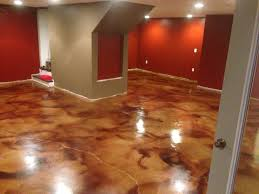 stained concrete floor kitchen with accessories allenton homes