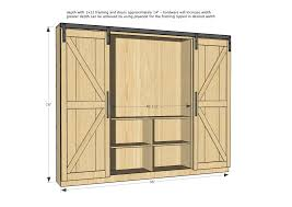 How To Build A Barn Door Frame Ana White Sliding Door Cabinet For Tv Diy Projects